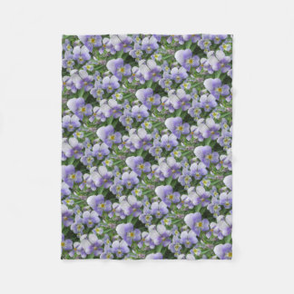 Purple Pansy home decor to brighten your home Fleece Blanket