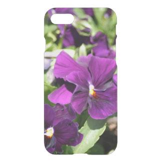 Purple Pansy iPhone 7 Case