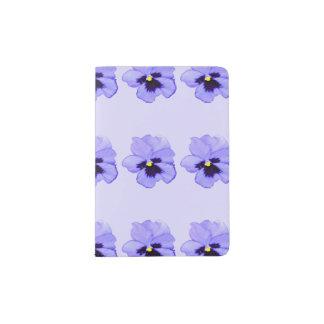 Purple Pansy Passport Holder
