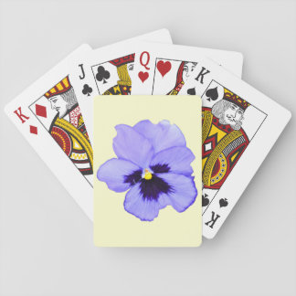 Purple Pansy Playing Cards