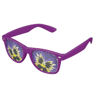 Purple Pansy Retro Sunglasses