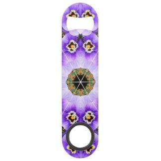 Purple Pansy Speed Bottle Opener