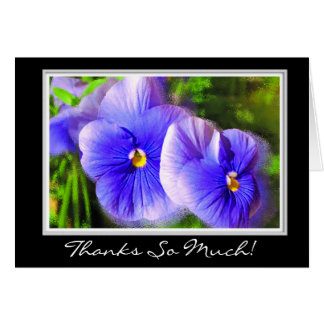 Purple Pansy Thank You; Frosted Pansies Note Card