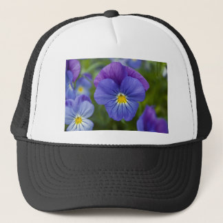 Purple Pansy Trucker Hat