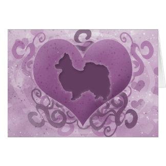 Purple Papillon Valentine s Day Card