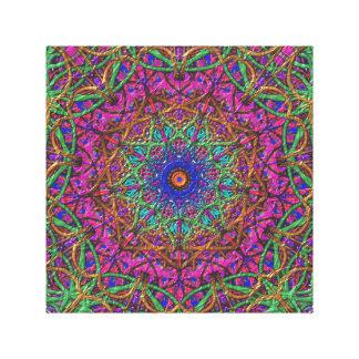 Purple Paradise Kaleidoscope Canvas Print