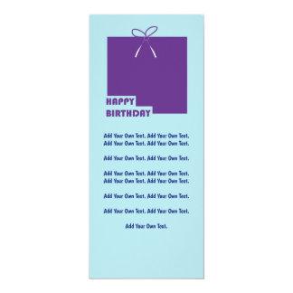 Purple Parcel Modern Happy Birthday Invite