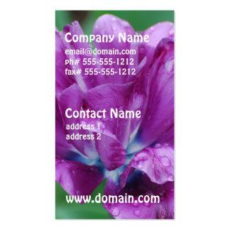 Purple Parrot Tulip Business Cards
