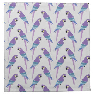 Purple Parrots Napkin