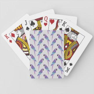 Purple Parrots Poker Deck