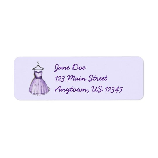 Purple Party Prom Dress on Hanger Fashion Labels