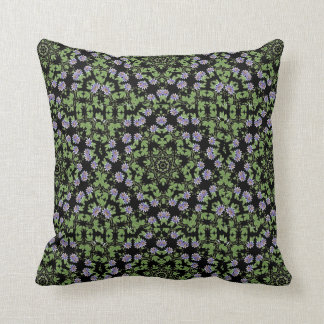 Purple Passiflora Passion Flower Pillow