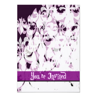 Purple Passion 13 Cm X 18 Cm Invitation Card