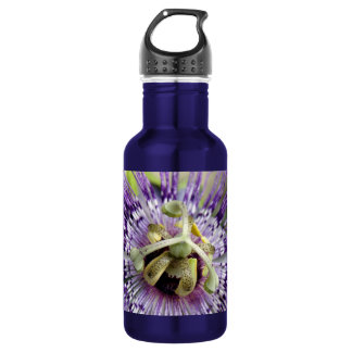 Purple Passion Flower Close Up 532 Ml Water Bottle