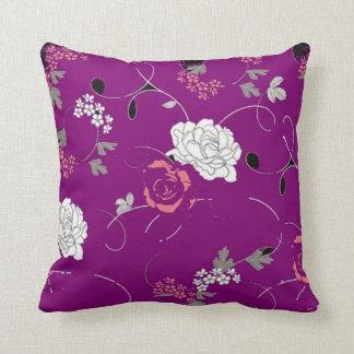 Purple Passion Flower Decorative Pillow Cushions