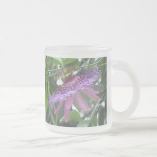Purple Passion Flower Frosted Mug