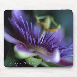 Purple Passion Flower Mouse Mats
