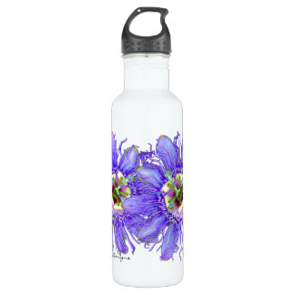 Purple Passion Flower 24oz Water Bottle