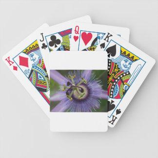 Purple Passion Flower Poker Deck