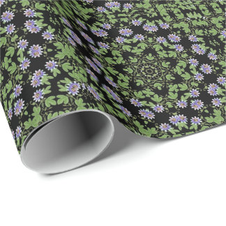 Purple Passion Flower Vine Wrapping Paper