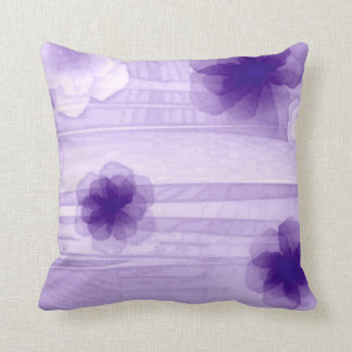 Purple Passion Flowers Airbrush Art Throw Pillow Cushions