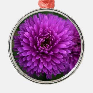 Purple Passion Silver-Colored Round Decoration