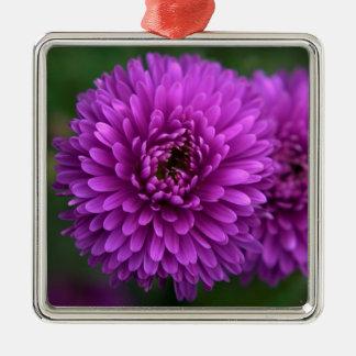 Purple Passion Silver-Colored Square Decoration