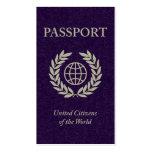 purple passport pack of standard business cards