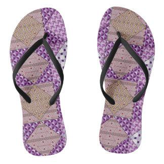 Purple Patch Flip Flops