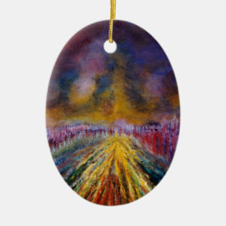 Purple Path Ceramic Oval Decoration