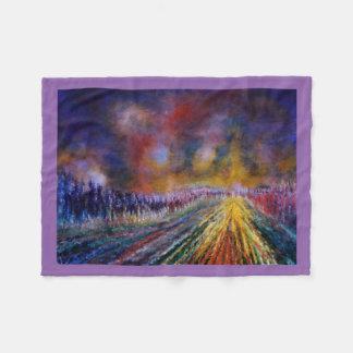 Purple Path Fleece Blanket