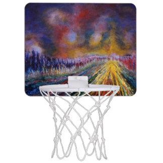 Purple Path Mini Basketball Hoop