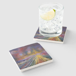 Purple Path Stone Beverage Coaster