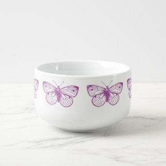 Purple Patina: Butterflies Soup Mug