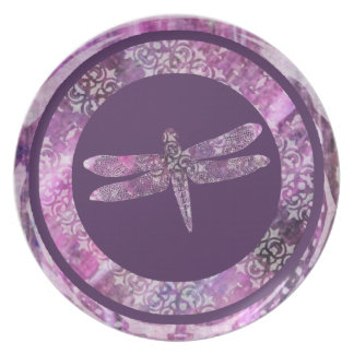 Purple Patina: Dragonfly Plate