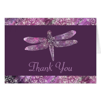 Purple Patina: Dragonfly Thank You Card
