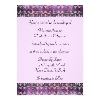 Purple Patina Filigree Card