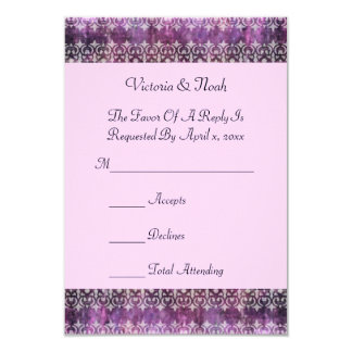 Purple Patina Filigree RSVP Card