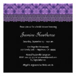 Purple Pattern and Lace Bridal Shower