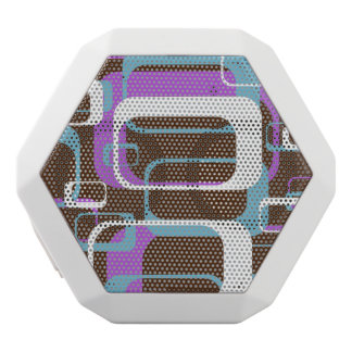 Purple Pattern White Boombot Rex Bluetooth Speaker