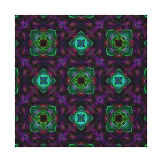 Purple Pattern Fractal Art Gallery Wrap Canvas