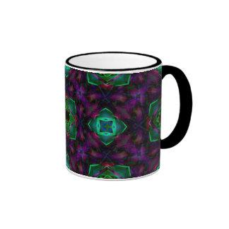 Purple Pattern Fractal Art Mug