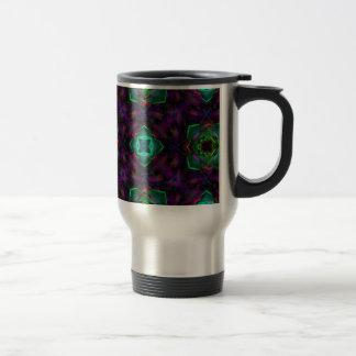 Purple Pattern Fractal Art Coffee Mug