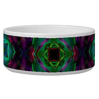 Purple Pattern Fractal Art Pet Water Bowls