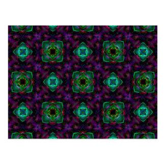 Purple Pattern Fractal Art Postcard