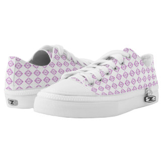 Purple pattern low top shoes. printed shoes