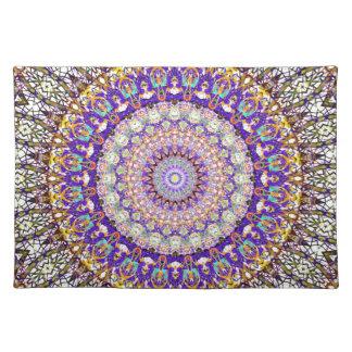 Purple Pattern Mandala Kaleidoscope Placemat