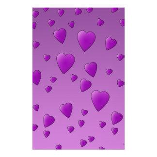Purple Pattern of Love Hearts. 14 Cm X 21.5 Cm Flyer
