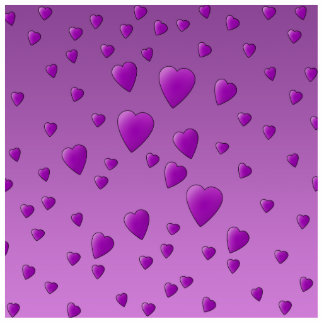 Purple Pattern of Love Hearts. Standing Photo Sculpture