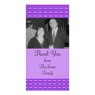 purple pattern personalised photo card